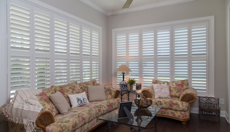 San Antonio sunroom interior shutters